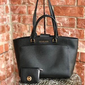 Michael kors Emmy large double handle tote+wallet